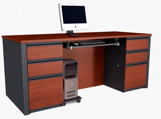 Prestige Plus Executive Desk Kit In Bordeaux & Graphite