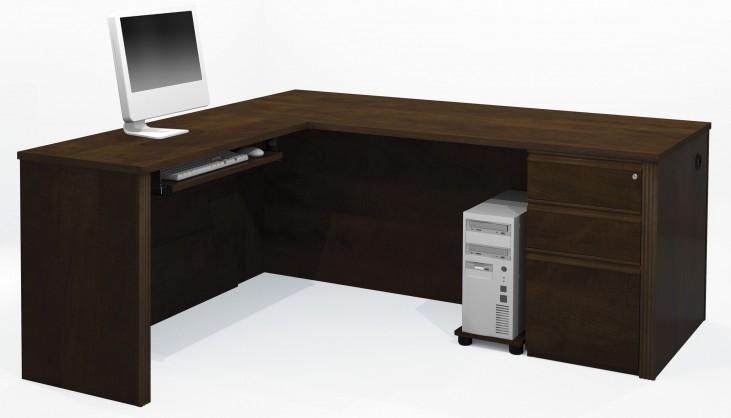 Prestige Plus Chocolate L-Shaped Workstation