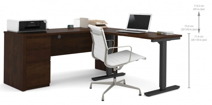 Prestige Plus Chocolate L-Desk Set