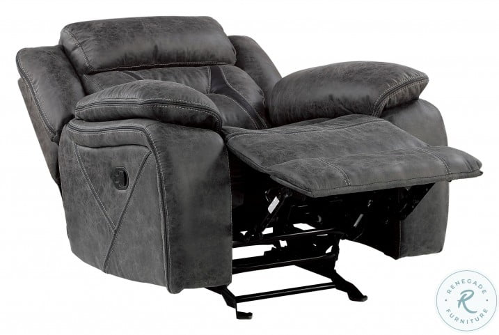 Madrona Hill Gray Glider Reclining Chair