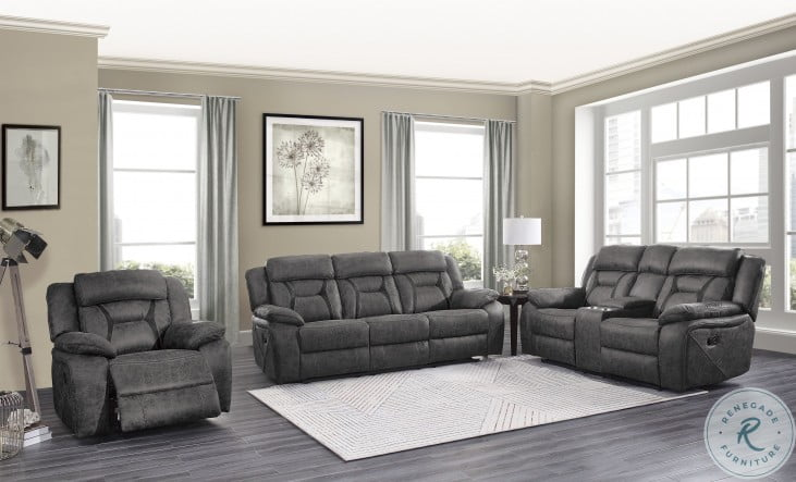 Madrona Hill Gray Double Reclining Living Room Set