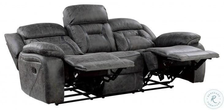 Madrona Hill Gray Double Reclining Sofa