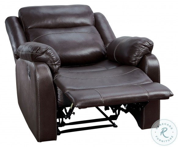 Yerba Dark Brown Lay Flat Reclining Chair