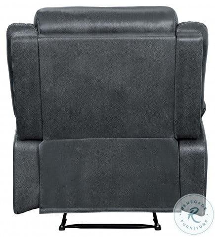 Yerba Dark Gray Double Lay Flat Reclining Living Room Set