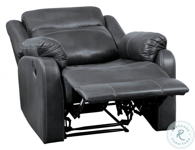 Yerba Dark Gray Lay Flat Reclining Chair