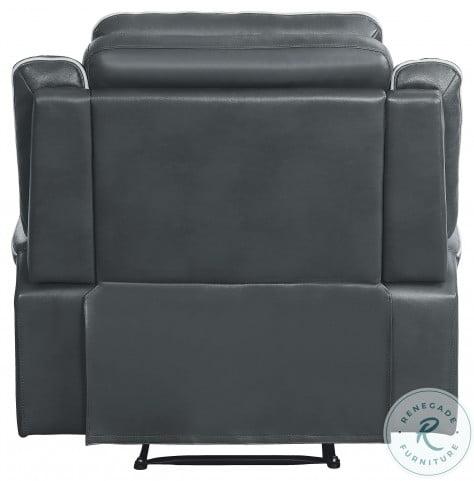 Darwan Dark Gray Double Lay Flat Reclining Living Room Set