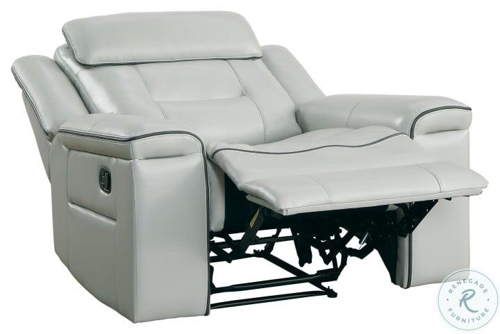 Darwan Light Gray Lay Flat Reclining Chair