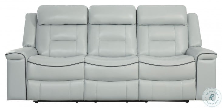 Darwan Light Gray Double Lay Flat Reclining Sofa