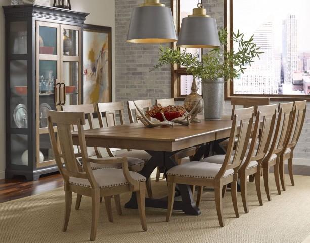 Stone Ridge Extendable Rectangular Trestle Dining Room Set