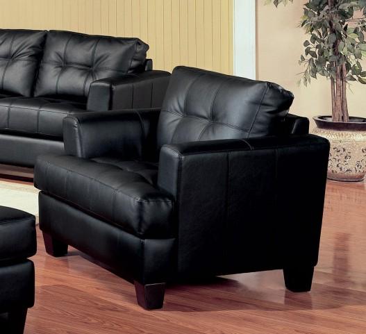 Samuel Black Leather Chair - 501683