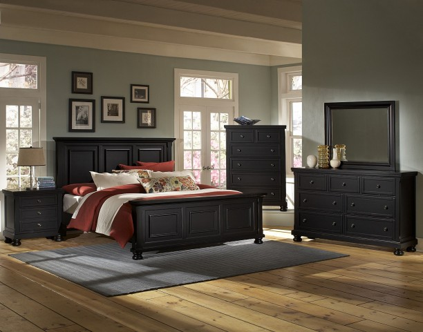 Reflections Ebony Youth Mansion Bedroom Set