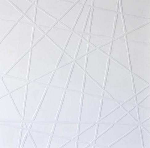 White Web Canvas Wall Art