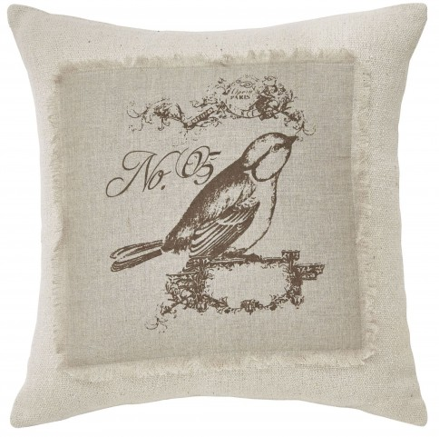 Ashling Brown and Cream Pillow Set of 4