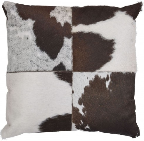 Tegan Dark Brown and White Pillow