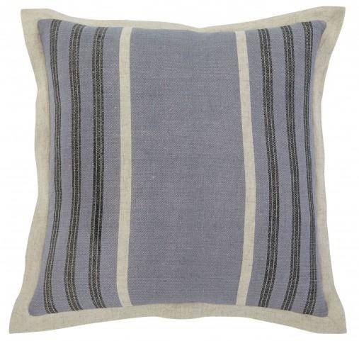 Striped Blue Pillow Set of 4
