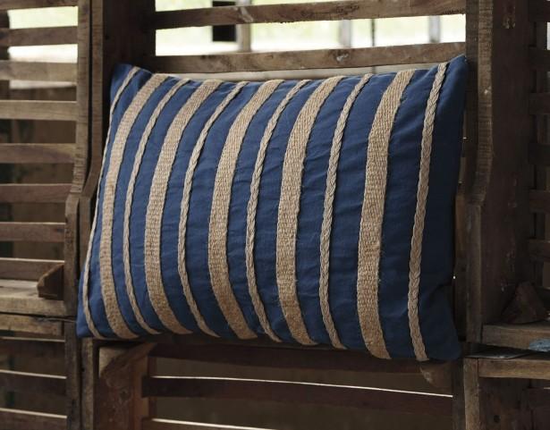 Zackery Blue Pillow Set of 4
