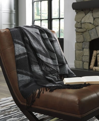 Cecile Black And Gray Throw Set of 3