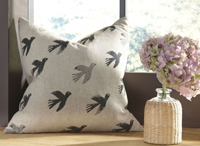Draven Gray and Natural Pillow Cover Set of 4