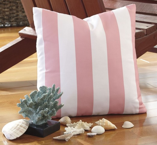 Hutto White and Pink Pillow Set of 4