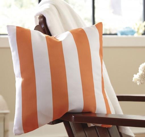 Hutto Orange and White Pillow Set of 4