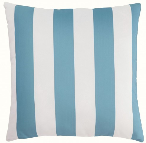 Hutto Aqua and White Pillow Set of 4