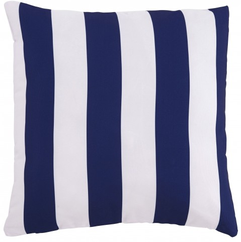 Hutto White and Navy Pillow Set of 4