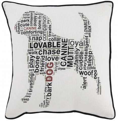 Beals White and Black Pillow Set of 4