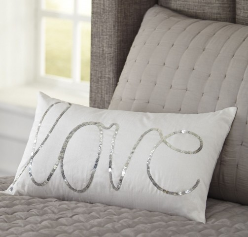 Newry Silver and White Pillow Set of 4
