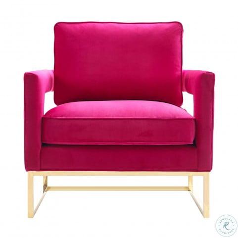 Avery Pink Velvet Chair