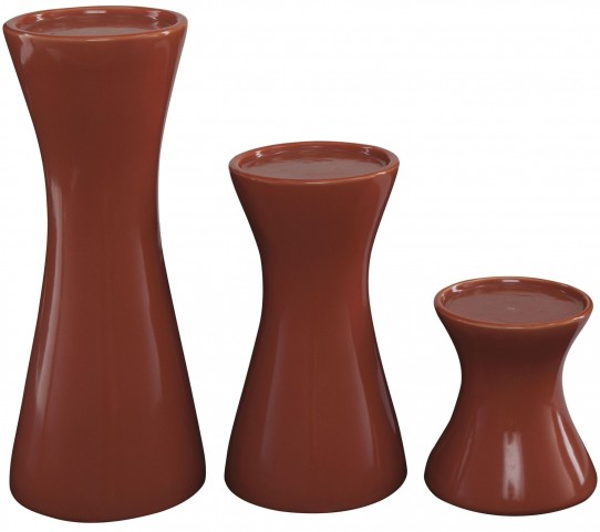 Cais Orange Candle Holder Set of 3