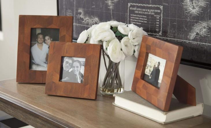 Kabecka Brown Photo Frame Set of 3