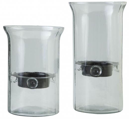 Kadeem Clear Candle Holder Set of 2