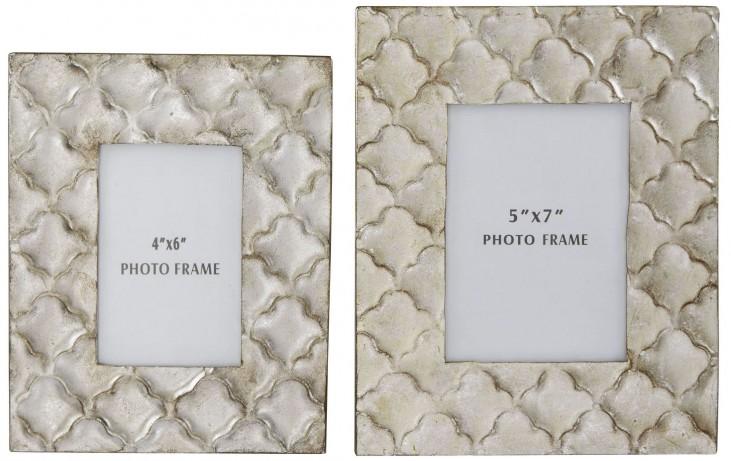 Kaeden Silver Leaf Photo Frame Set of 2