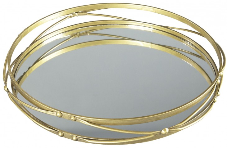 Ocelfa Antique Gold Tray Set of 2