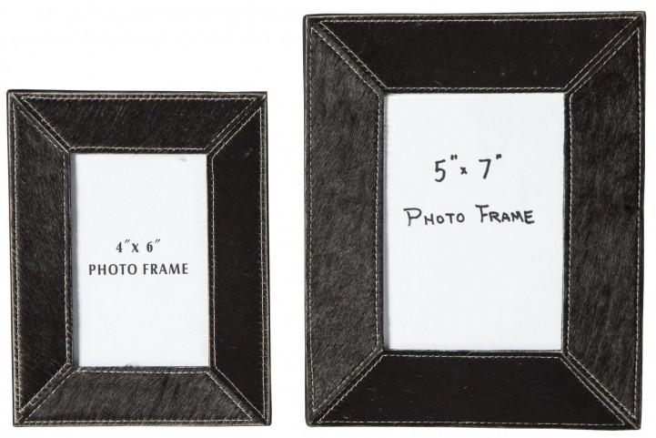 Odeda Black Photo Frame Set of 2