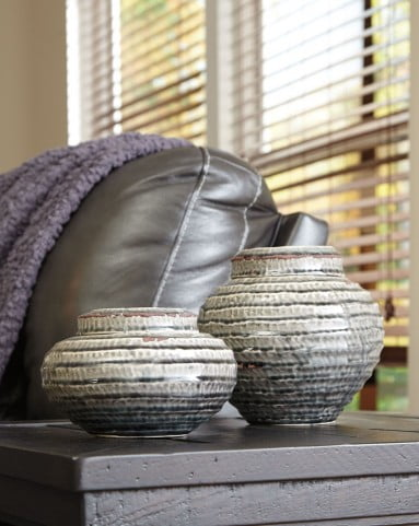 Devonee Antique Gray Jar Set of 2