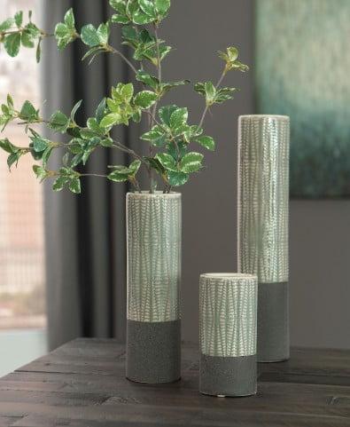 Elwood Gray Vase Set of 3