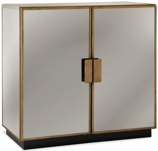Garvey Antique Brass Hospitality Cabinet