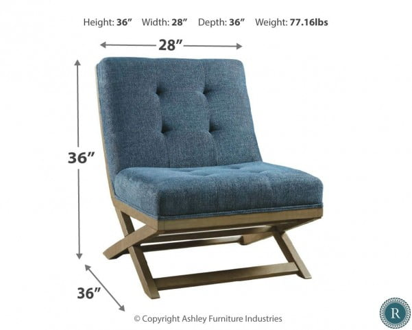 Sidewinder Blue Accent Chair