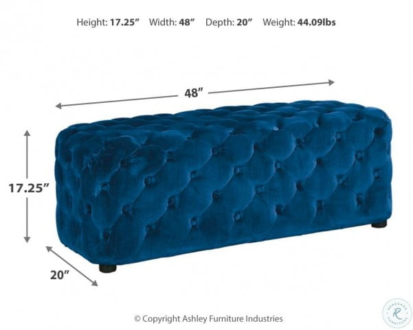 Lister Navy Accent Ottoman