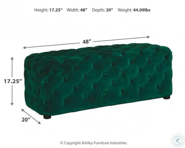 Lister Green Accent Ottoman