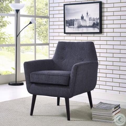 Clyde Navy Linen Chair