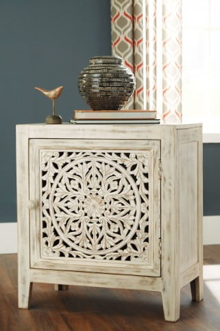 Fossil Ridge White Accent Cabinet From Ashley A4000008