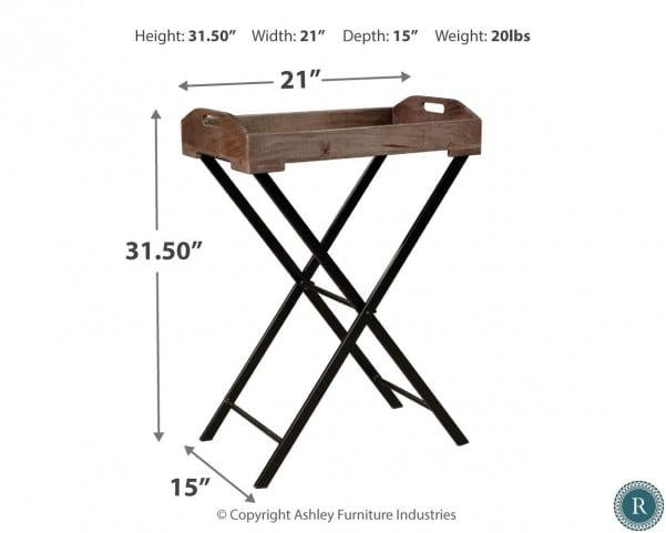 Cadocridge Black Accent Table