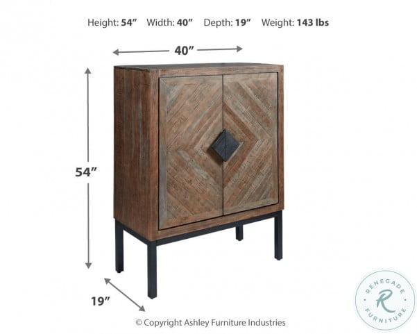 Premridge Antique Gray Bar Cabinet