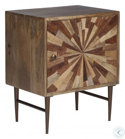Dorvale Two Tone Brown Accent Cabinet