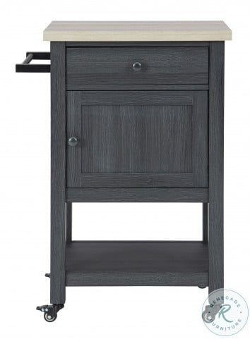 Boderidge Black Bar Cart