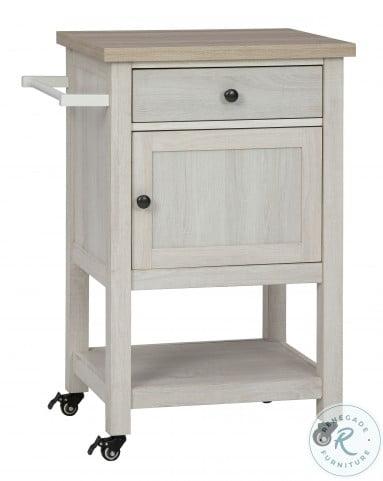 Boderidge Antique White Bar Cart