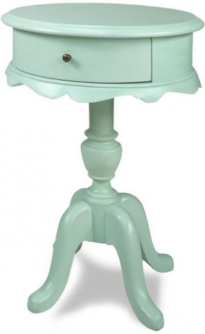 Molly Robin Egg Blue Chairside Table