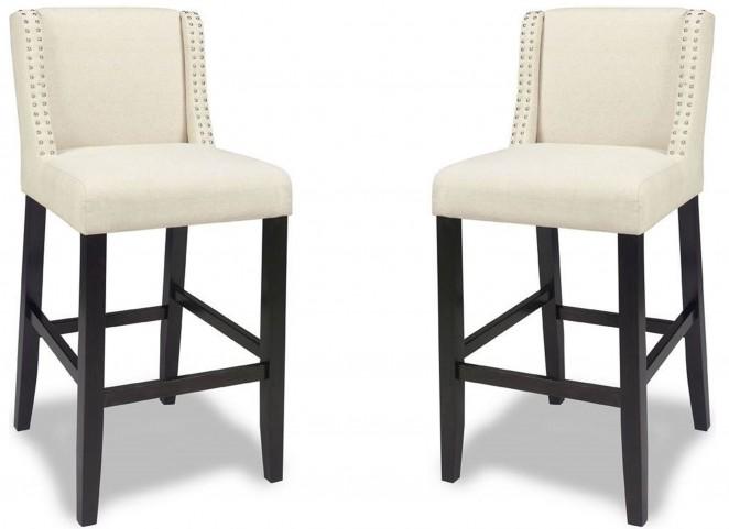 Gwyneth Espresso Upholstered Barstool Set of 2